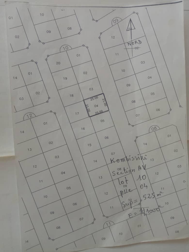 Vente de terrains à Kombissiri